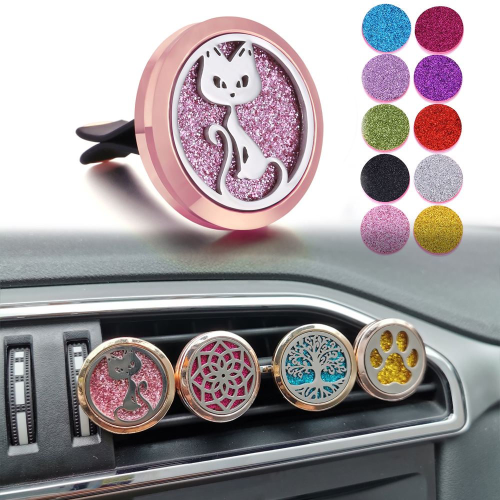 New Car Air Freshener Auto Outlet Perfume Vent Rose Gold Solid Fragrance Clip Car Air Vent Essential Oil Diffuser Car Perfume