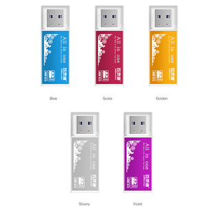 Image 4 - 4 in 1 Aluminum Shell Metal Card Reader USB2.0 All in one High speed Universal SD TF Card Reader  MMC Card  Readers
