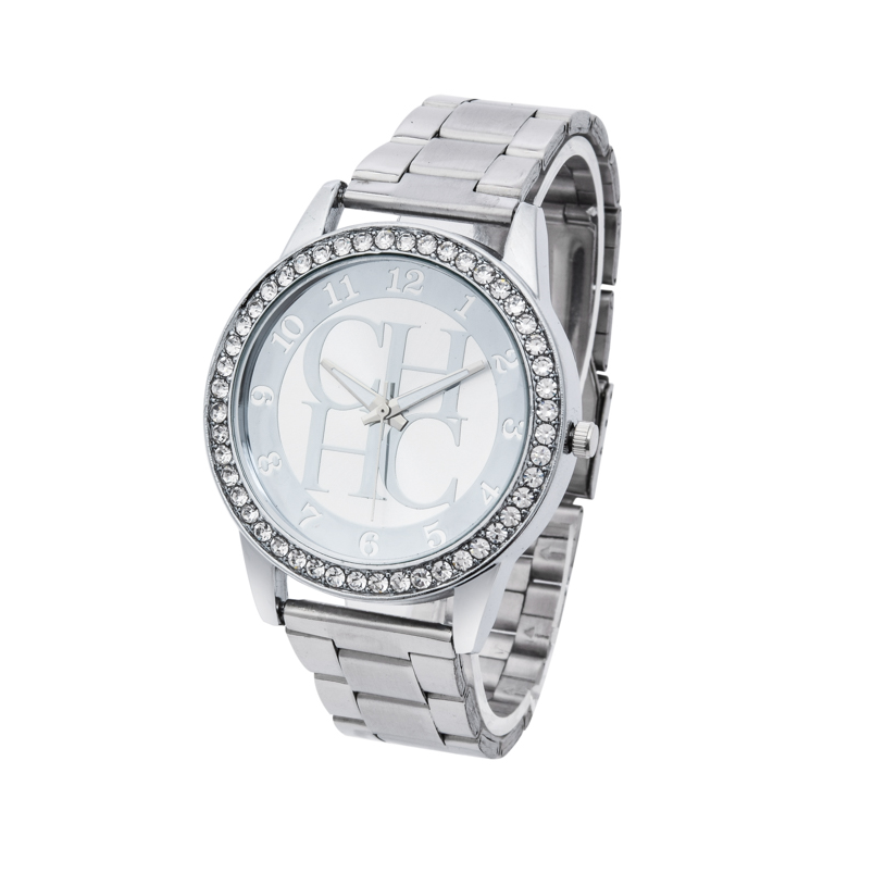 Zegarki Meskie New Luxury Fashion Brand CH Ladies Watch Crystal Dress Quartz Watches Women Stainless Steel Watches Zegarki