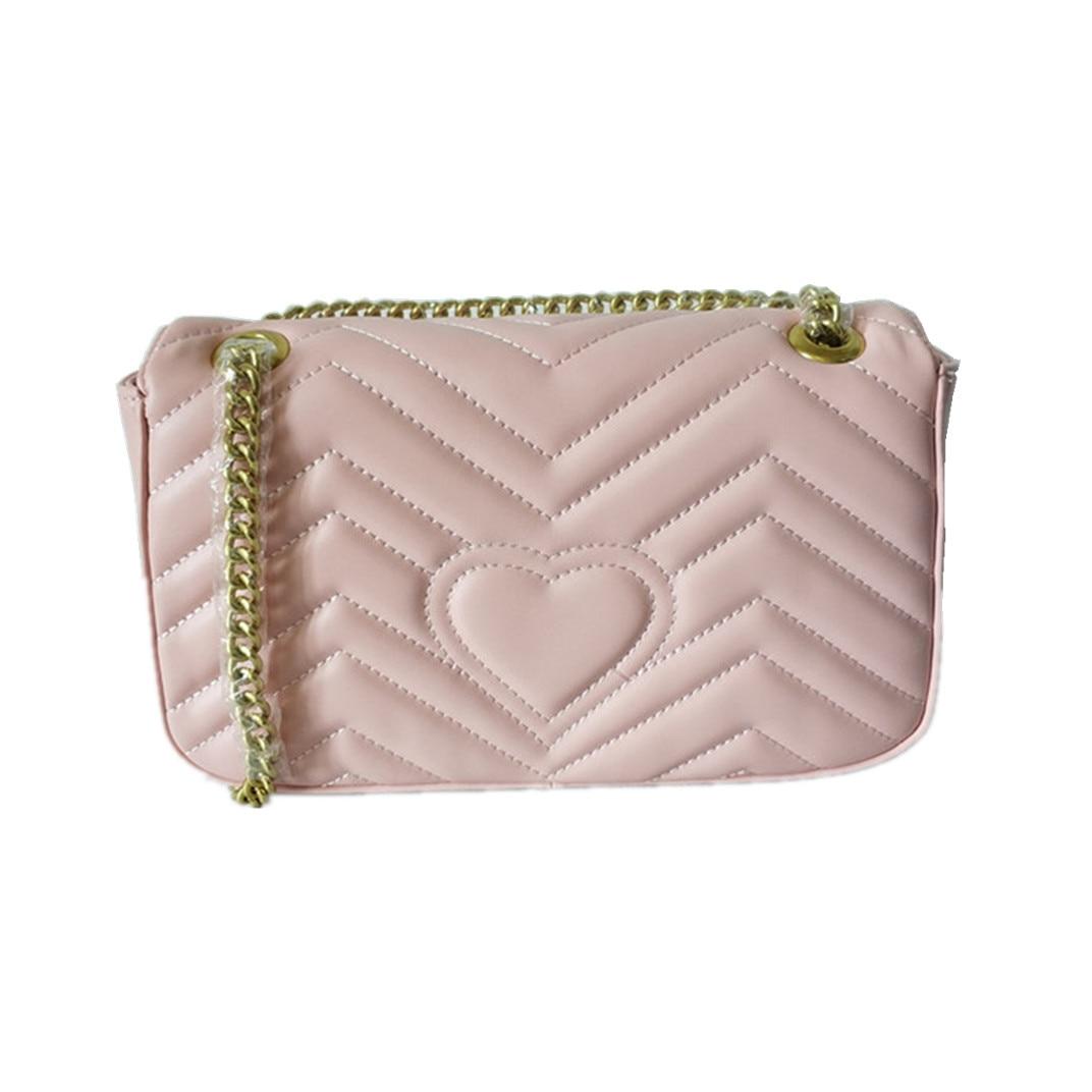 Luxury Fashion Designer Heart Qulited Shoulder Bag For Women Gold Chain Shoulder Strap With Flap Handbag Three Size