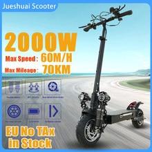 2000W podwójny skuter z silnikiem elektrycznym dorosłych 60 KM/H 18A bateria 70KM Trotinette électrique 10
