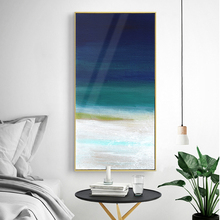 Nordic Style Canvas Painting Abstract Landscape Prints Oil Blue Ocean Wall Pictures for Living Room Cuadros Home Decor