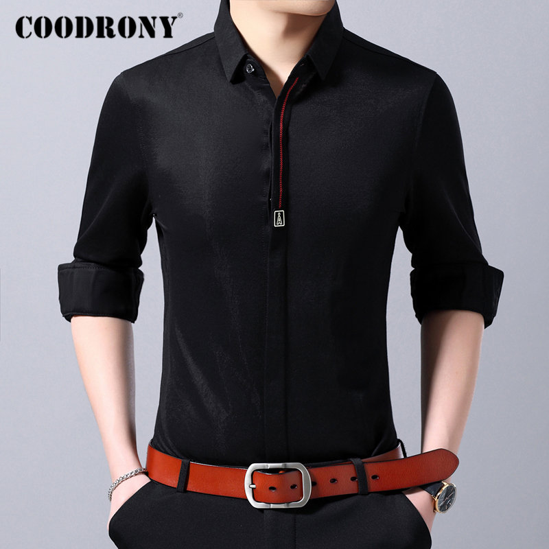 COODRONY Brand Men Shirt Business Casual Shirts Long Sleeve Cotton Shirt Men Clothes Streetwear Fashion Camisa Masculina 96108