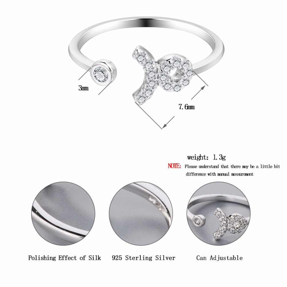 Телец Звезда Созвездие зодиака кольца Круглый Циркон кольцо с открытым пальцем Рождество заявление ювелирные изделия подарок на день рождения девочек
