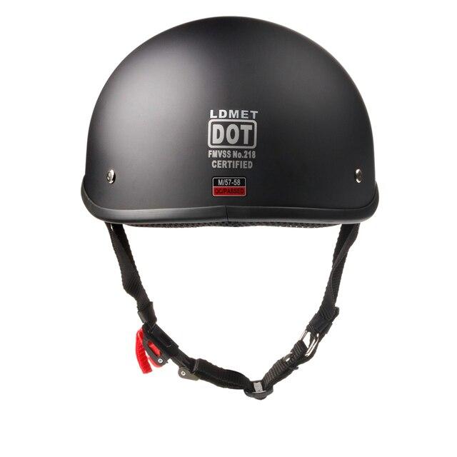 Casque moto rcycle casque demi face casque vintage rétro cascos para moto Scooter, croiseur, Chopper