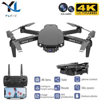 Nowy 2020 E99 drone 4K HD podwójny aparat składany dron z wifi FPV 1080p transmisja w czasie rzeczywistym 50 razy focus zdalnie sterowany Quadcopter tanie i dobre opinie YLRC CN (pochodzenie) Z tworzywa sztucznego 100m 18*26*5 5cm Mode2 Silnik szczotki 7 2v 4 kanały Oryginalne pudełko Baterie