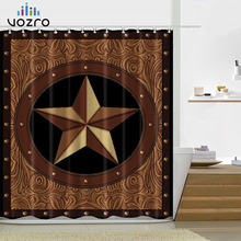 VOZRO National Pattern Shower Bathroom Curtain Scenery Bape Douchegordijn Pascoa Cortina Banheiro Miniaturas Duschvorhang Whal