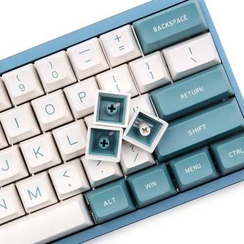 134 Key Cherry Switch Keycaps Green White Color SA  Profile ABS Keycaps Set For Anne Pro 2 Mechanical Gaming Keyboard 1