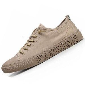 Image 5 - Summer Canvas Shoes Men Fashion Sneakers Hot Selling Vulcanized Canvas Shoes Tenis Feminino Plus Size 38 43 Gray Khaki