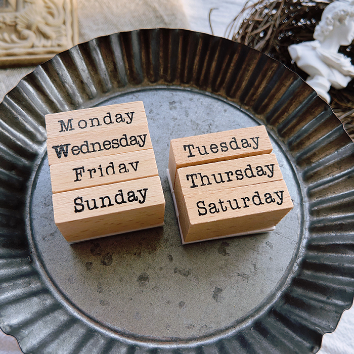 Cool Week Dates Wooden Stamp 7PCS/LOT 8.5*5.5cm DIY Scrapbooking Stickers Supplies Free Shipping