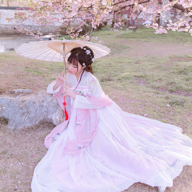 Chinese Traditional Dance Costumes Elegant Fairy Hanfu Dress For Women Tang Dynasty Ancient Princess Costume Festival Outfit