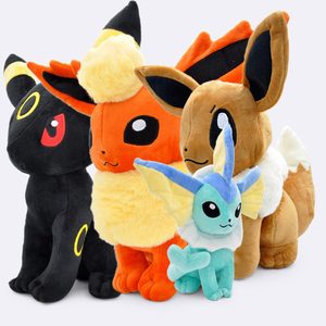 "12"" 30cm/37CM Big Sitting Eevee Vaporeon Flareon Umbreon Soft Stuffed Animals Plush Toys Gift(China)"