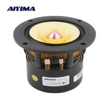 AIYIMA-altavoz de gama completa de 4 pulgadas, amplificador de sonido HIFI de frecuencia media de 25W, Unidad de altavoz para cine en casa