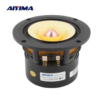 AIYIMA 4 Inch Audio Full Range Speaker Driver 25W Mid Frequency HIFI Sound Amplifier Speaker Unit For Home Theater Loudspeaker 2pcs new aucharm 8f 1 8inch full frequency speaker driver unit casting aluminum frame wool leather surround 8ohm 20w d210mm