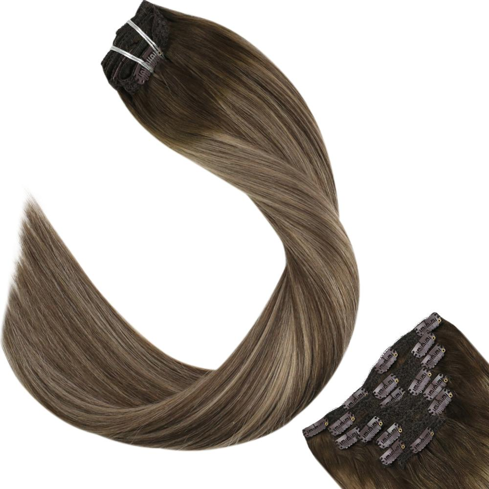 Ugeat Clip In Hair Extensions Human Hair Clip Ins 14-24