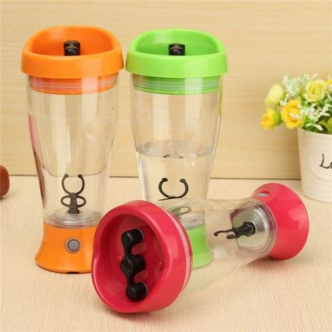 Fitness Sports Water Bottle 350ml Electric Protein Powder Shaker Bottle Coffee Milk Juice Shake Automatic Stir Jar Blender Lahore