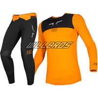 Delicate Fox Motocross Racing 2019 Flexair Royl Jersey Pants Motorcycle Gear Set Motorbike Orange Black Suit Mens