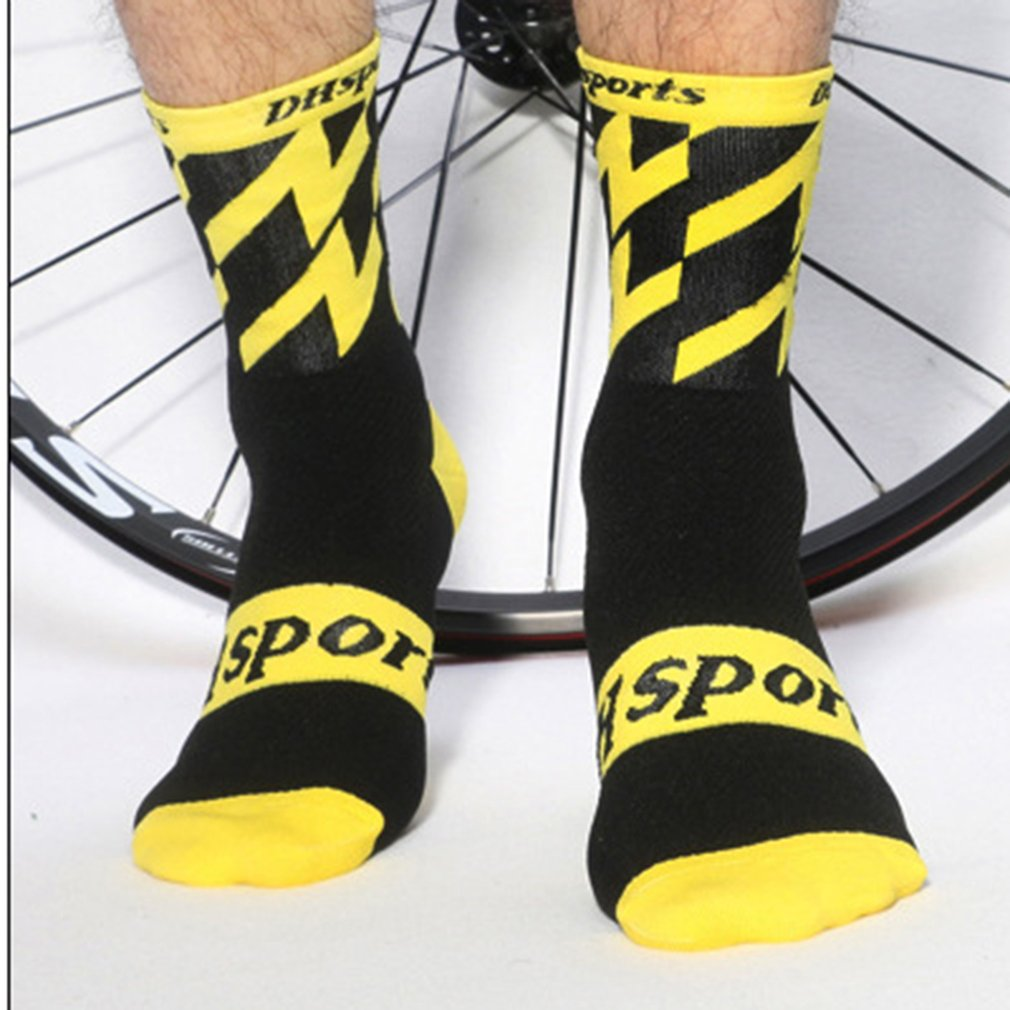 Men Women Cycling Socks For Bike Sports Socks Compression Professional Running Spin Class Hiking Gym Cool Funny Hot