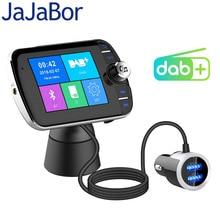JaJaBor Ricevitore Autoradio Trasmettitore FM DAB Digital Audio Broadcasting Vivavoce Bluetooth Con Antenna QC3.0 Caricatore USB