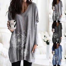 New street style autumn and winter crew-neck printed long sl