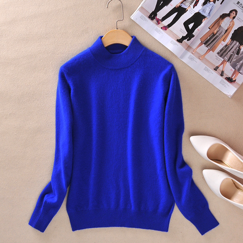 Turtleneck Cashmere Blended Knit Sweater Korean Style Women Warm Tops Winter Long Sleeve Pullover Female 2020 Spring Clothes