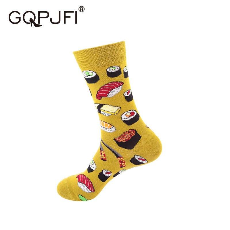 גרבי כותנה לגברים WomenCute סתיו וחורף קריקטורה SocksCasual חם SocksComfortable רך זוג גרביים