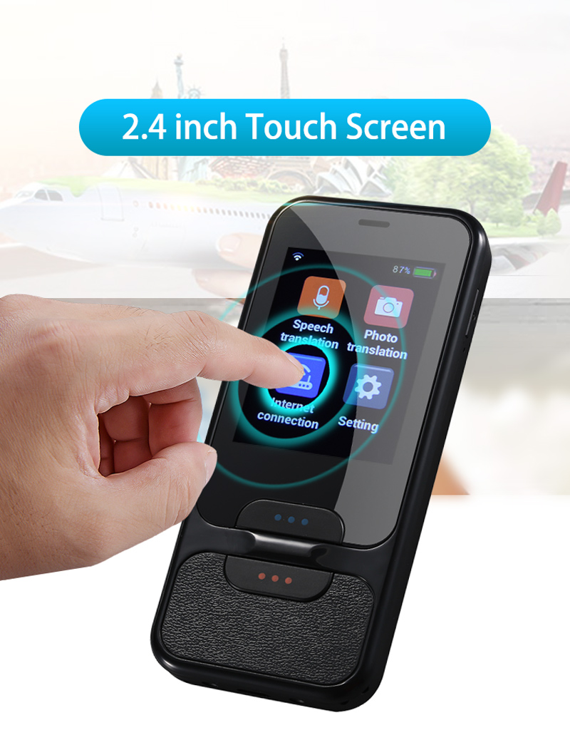 TOMKAS AI Smart Pocket Language Translator with 2.4 Inch Touch Screen and  WIFI for Multi language Voice and Photo Translation in Real Time 15