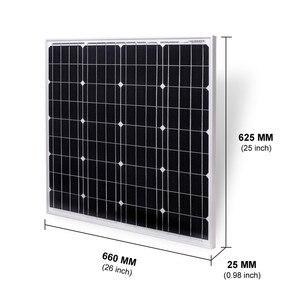 Image 3 - Dokio 18 12v 60ワット/80ワット剛性単結晶ソーラーパネル中国充電12v 60ワット黒防水パネル太陽電池家庭用ロシア