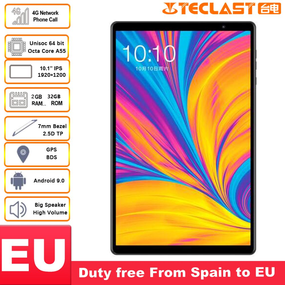 Teclast P10HD 4G Phablet Tablets 10.1 Inch 1920×1200 Android 9.0 Tablet PC 3GB RAM 32GB ROM SC9863A Octa Core GPS  6000mAh Large