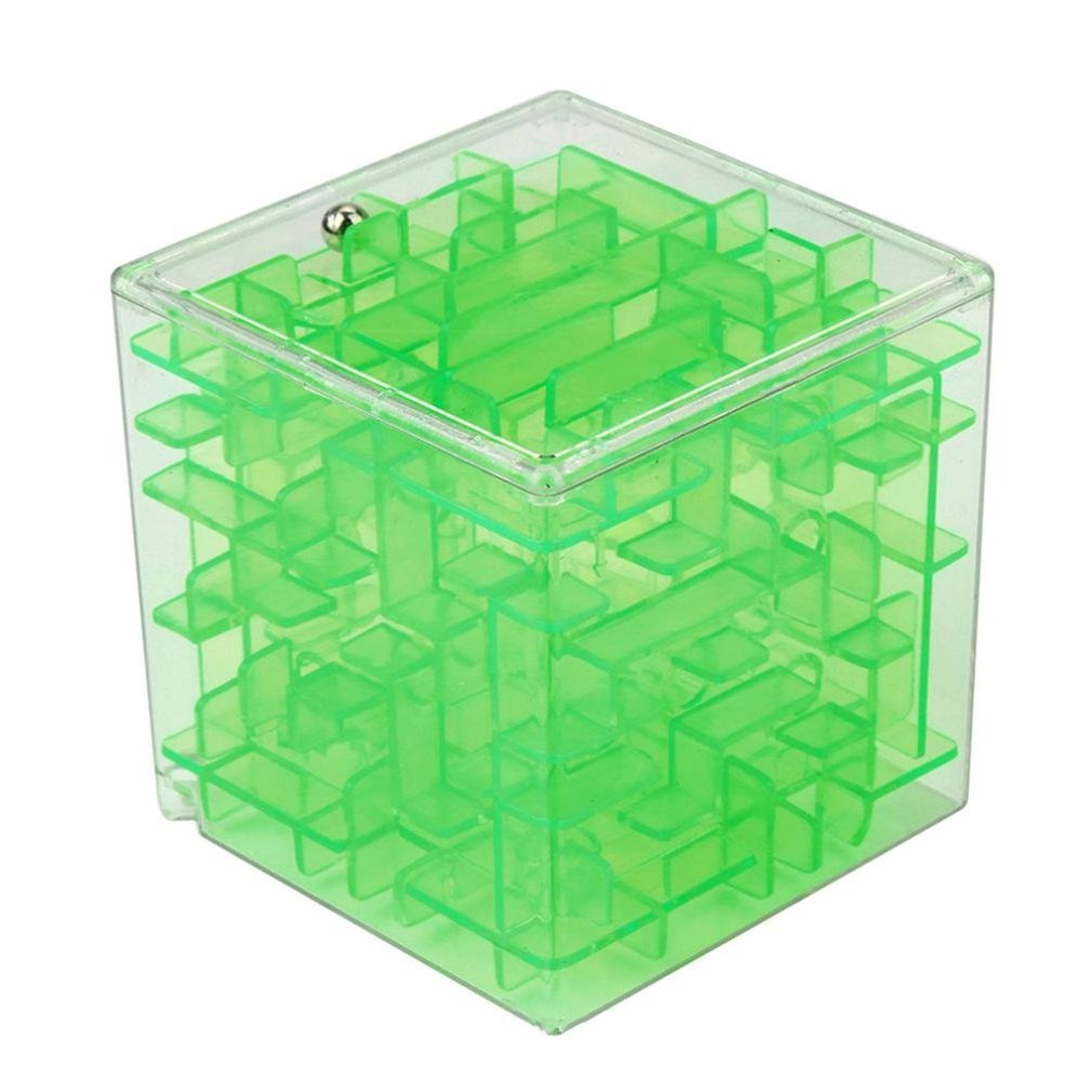 3D Mini Speed Cube Maze Toy Magic Cube Puzzle Game Three-dimensional Maze Rolling Ball Magic Learning Toys For Children Adult