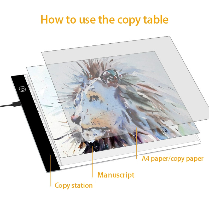 A4A5 Transparent Writing Board Led Copy Table Copy Luminous Transparent Writing Board Suitable for Office Art Creation