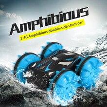 1:12 RC acrobatica anfibio 2.4 GHz 4WD giocattoli elettrici impermeabile guida su acqua e terra telecomando Off Road Car Toy