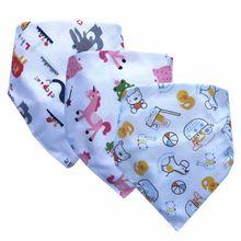 Новые детские нагрудники треугольник двойные хлопковые нагрудники мультфильм печати слюнявчик полотенце для маленьких мальчиков и девочек передник для кормления хлопковые нагрудники