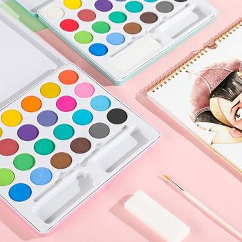 24 36 kolorów stałe farby akwarelowe zestaw przenośny Pigment podróżny farby akwarelowe do rysowania artystycznego farby tanie i dobre opinie CN (pochodzenie) 3312 24 colors 36colors