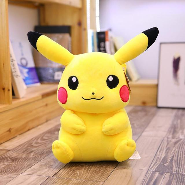 Pikachu Stuffed Animal Big, Very Large Pikachu Plush Toys Big Size Full Pillow Stuffed Doll Appease Baby Birthday Present For Children Kids Kid Gift Mall