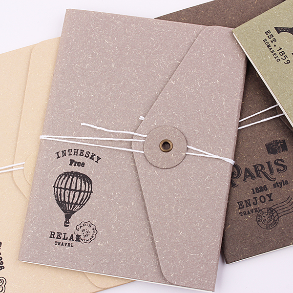 1PC 64K Vintage Tower Notebooks 32 Pages Envelope Design Notepad Office Material Stationery Diary Planer Supplies  (ss-1732)