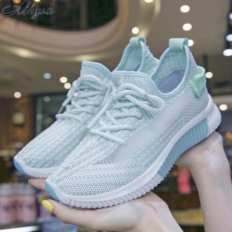 Mhysa 2020 Shoes women sneakers fashion summer light breathable mesh shoes woman tenis feminino women casual vulcanized shoes