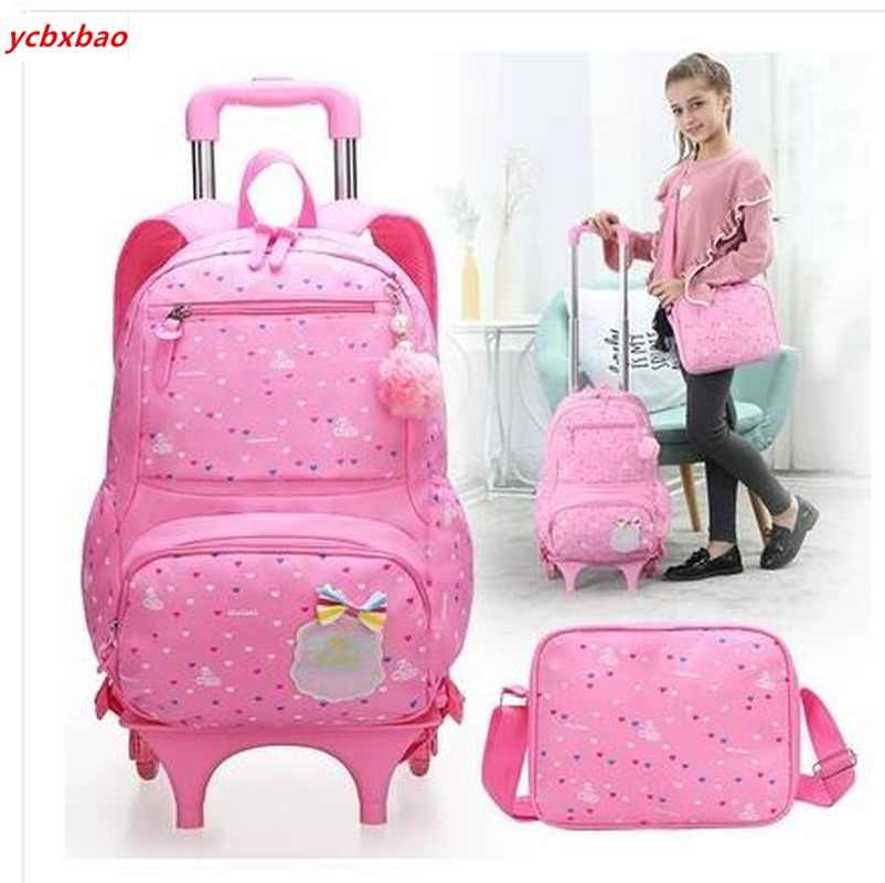 School Rolling Backpack for Kids Wheeled Backpack for School Children School Trolley Bag Kids Travel Trolley Backpack on Wheels