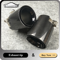 Glossy black Exhaust tailpipe Carbon fiber New M Performance Muffler exhaust tips Stainless steel Muffler End Pipe