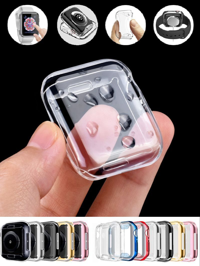 360 Slim Watch Cover for Apple Watch Case 6 SE 5 4 3 2 1 42MM 38MM Soft Clear TPU Screen