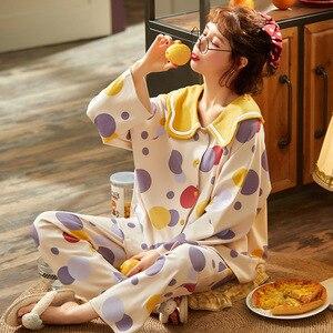 Image 5 - Bộ Pyjama Nữ Quần Áo Bộ Đồ Ngủ Bộ Hình In Dễ Thương Dài Đồ Ngủ Bộ Quần Áo Nữ Thời Trang Đồ Ngủ Mềm Váy Ngủ Phù Hợp Với