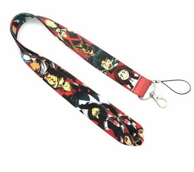 Anime Mijn Hero Academia Boku geen Hero Academia Nekkoord Lanyards Badge Houder Touw Hanger Sleutelhanger Accessorie