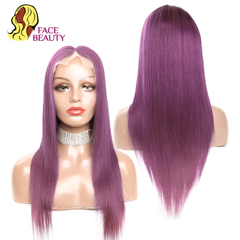 Image 3 - Facebeauty #350 Long Straight Human Hair Wigs Brazilian Remy Orange Colored Glueless Lace Front Wigs Pre Plucked Free Shipping-in Human Hair Lace Wigs from Hair Extensions & Wigs