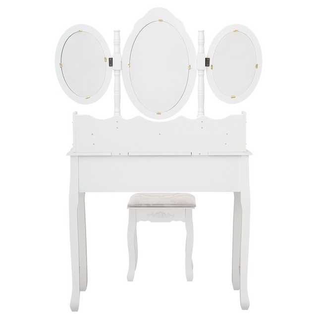 FCH Tri-fold Mirror Nordic 7 Drawer Dressing Table bedroom Simple Economy 3