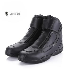 ARCX Motorcycle Boots Genuine Leather Waterproof Street Moto Racing Ankle Boot Motorbike Cruiser Touring Riding Locomotive Shoes(China)