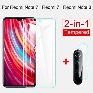 Image 1 - 2 Trong 1 Ống Kính Máy Ảnh Glass Cho Redmi Note 8 7 5 PRO Kính Cường Lực Bảo Vệ Màn Hình Redmi 7 7A K20 Pro 4X 5 Plus Glass Phim