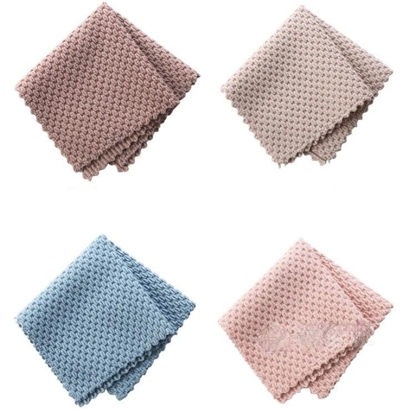 Kitchen Cleaning Towel Super Absorbent Anti-grease Wiping Rags Efficient Microfiber Cleaning Cloth Home Washing Dish