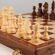 Chess Solid Wood Set Large Children's Wooden Folding Chessboard Special K1KC