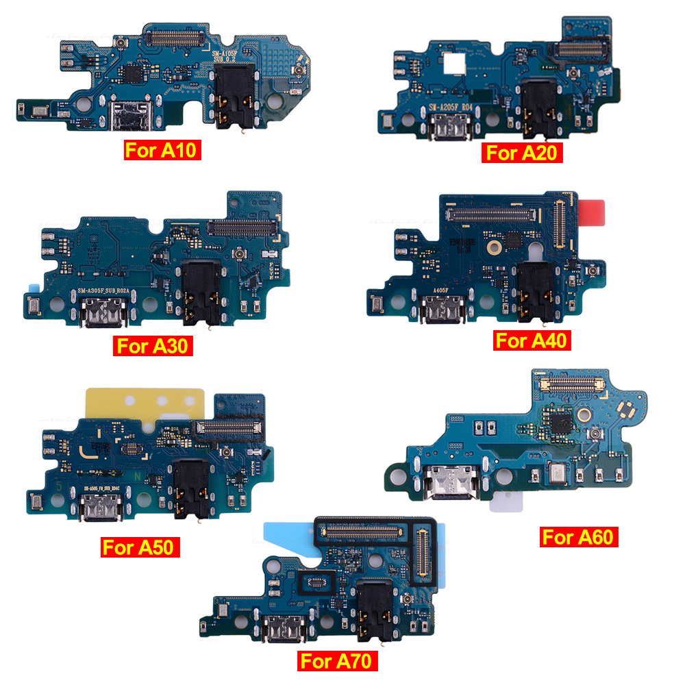 USB Charging Charger Dock Port Board For Samsung Galaxy A10 A20 A30 A40 A50 A60 A70 A305 A505 With Mic Microphone Flex Cable