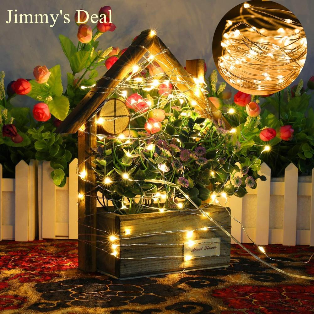 JDEALER 2M/5M/10M/20M LED String Lights Battery Lights Fairy Micro For Tree Wedding Bedroom Party Christmas Decoration